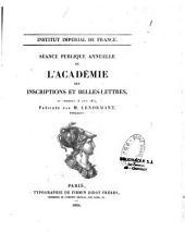 Séance publique annuelle de l'académie des Inscriptions et Belles-lettres du vendredi 18 août 1854