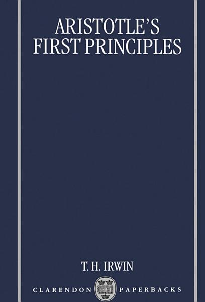 Download Aristotle s First Principles Book