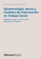 Epistemolog  a  teor  a y modelos de intervenci  n en trabajo social PDF