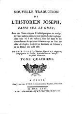 Nouvelle traduction de l'historien Joseph: Volume4