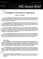 Emergent E-commerce in Agriculture