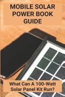 Mobile Solar Power Book Guide