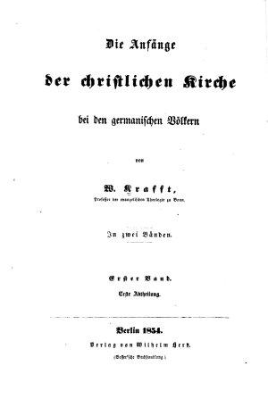 Die Anf  nge der christlichen Kirche bei den germanischen V  lkern PDF