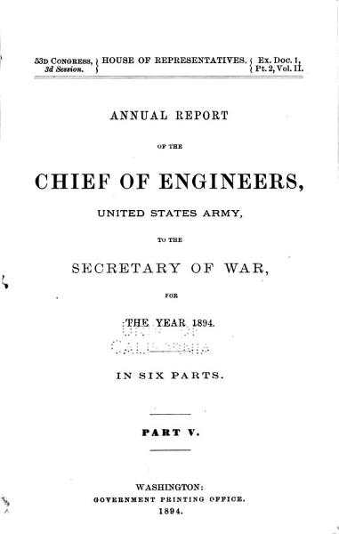 Download Report of the Chief of Engineers U S  Army Book