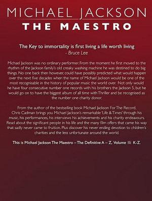 Michael Jackson The Maestro The Definitive A Z Volume II   K Z