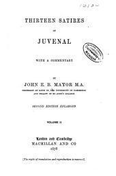 Thirteen satires of Juvenal: Volume 2