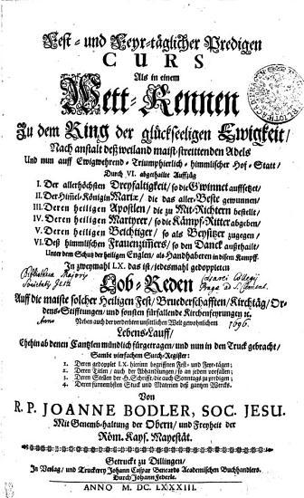 Fest  und Feyr t  glicher Predigen CURS PDF