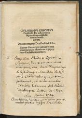 Guilhermus Episcopus Parisiensis de collationibus et pluralitate ecclesiasticorum beneficiorum: Albertus Magnus de adherendo soli deo