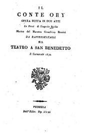 Il Conte Ory: Opera buffa in 2 atti