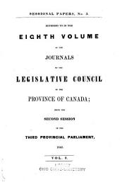Appendix to ... Journals of the Legislative Assembly of the Province of Canada: Volume 8, Issue 3