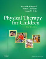 Physical Therapy for Children   E Book PDF