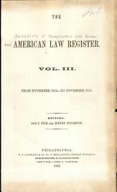 University of Pennsylvania Law Review: Volume 3