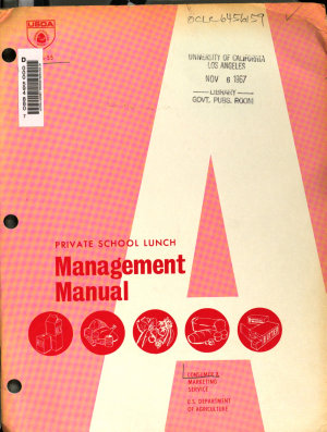 Private School Lunch Management Manual