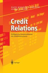 Credit Relations: Erfolgreiche Kommunikation mit Anleiheinvestoren