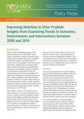 Improving nutrition in Uttar Pradesh: Insights from examining trends in outcomes, determinants and interventions between 2006 and 2016
