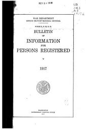 Bulletin of Information for Persons Registered