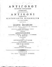 Antigoni Carystii Historiarum mirabilium collectanea