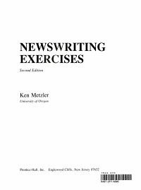 Newswriting Exercises PDF