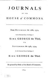 Journals of the House of Commons: Volume 34