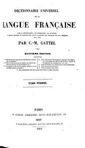Diction. de la langue fr: Volume1