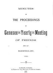 Minutes of the Proceedings of Genesee Yearly Meeting of Friends