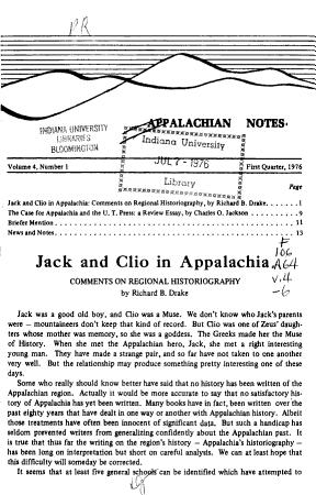 Appalachian Notes PDF