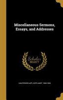 MISC SERMONS ESSAYS   ADDRESSE PDF