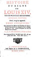 Histoire du regne de Louis 14  roi de France et de Navarre     Tome premier   dixieme      par H  P  De Limiers    PDF