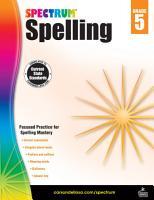 Spectrum Spelling Grade 5