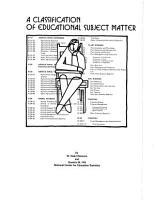 A Classification of Educational Subject Matter PDF
