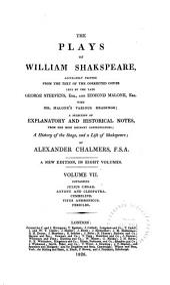 Julius Caesar. Antony and Cleopatra. Cymbeline. Titus Andronicus. Pericles