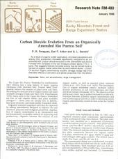 Carbon Dioxide Evolution from an Organically Amended Rio Puerco Soil