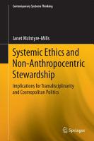 Systemic Ethics and Non Anthropocentric Stewardship PDF