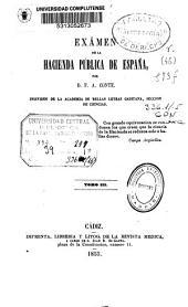 Exámen de la hacienda pública de España: parte 2