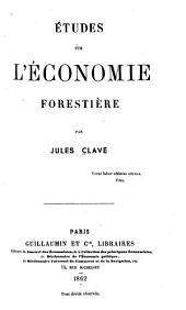Études sur l'économie forestière
