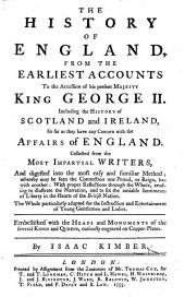 The History of England ... to the Accession of ... George II., Etc