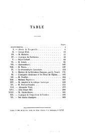 Études sur la littérature contemporaine: Volume1