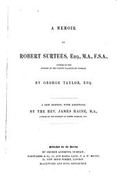 A Memoir of Robert Surtees