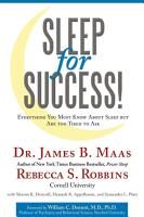 Sleep for Success  Everything You Must Know About Sleep but Are Too Tired to Ask PDF