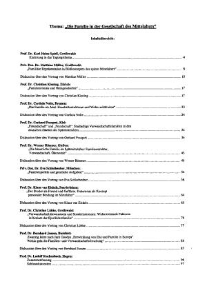 Thema  Die Familie in der Gesellschaft des Mittelalters  PDF