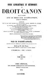 Encyclopédie théologique: ou Série de dictionnaires sur toutes les parties de la science religieuse, Volume10