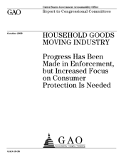 Household Goods Moving Industry: Progress Has Been Made in Enforcement, But Increased Focus on Consumer Protection Is Needed