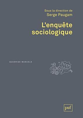 L enqu  te sociologique PDF