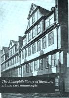 The Bibliophile Library of Literature  Art and Rare Manuscripts PDF