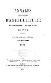 Annales de la Societe D'agriculture Histoire Naturelle et Arts Utiles de Lyon
