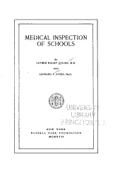 Medical Inspection of Schools