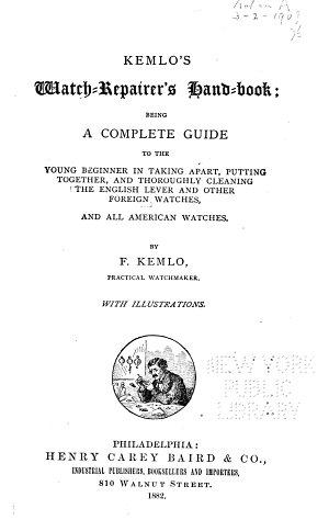Kemlo s Watch repairer s Handbook