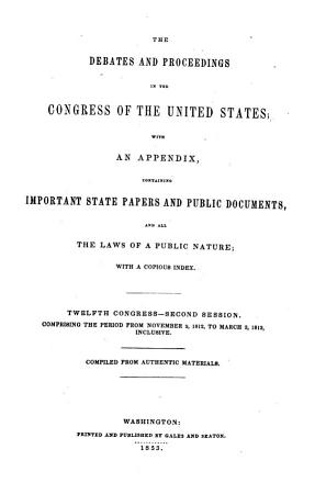 The Debates and Proceedings in the Congress of the United States PDF
