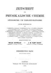 Zeitschrift für physikalische Chemie: Band 13