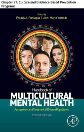 Handbook of Multicultural Mental Health: Chapter 27. Culture and Evidence-Based Prevention Programs, Edition 2